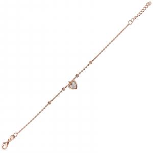Bratara Argint 925% Rose_gold cu inimioara din sidef [0]