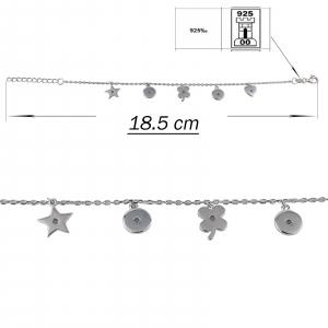 Bratara Argint 925% cu stelute si inimioare [2]