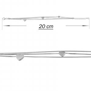 Bratara tripla din argint 925% cu inimioare [2]