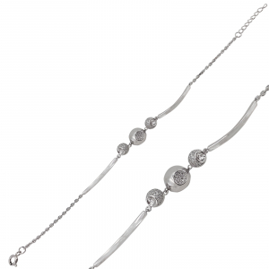Bratara Argint 925% semifixa cu zirconii [0]