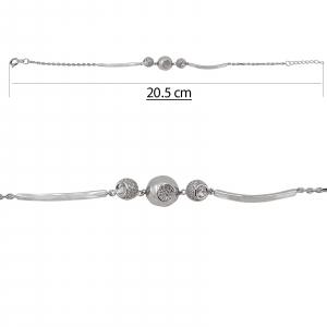 Bratara Argint 925% semifixa cu zirconii [1]