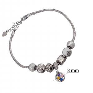 Bratara Argint cu talismane culisante [1]