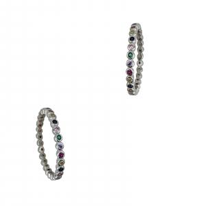 Inel Argint cu un rand de zirconii colorate [0]
