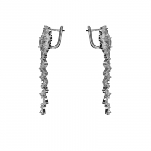 Cercei Argint lungi cu zirconii albe [2]