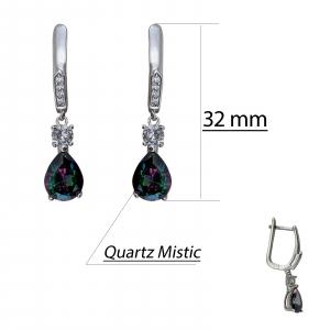 Cercei Argint 925% sui Quartz Mistic [2]