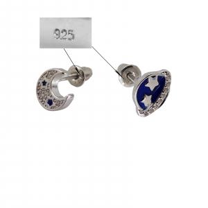 Cercei Argint 925% asimetrici Astro [1]