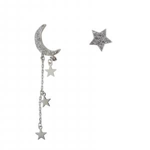 Cercei Argint 925% asimetrici cu luna si stea [0]