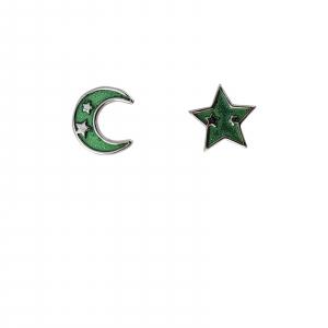 Cercei Argint 925% asimetrici Green Sky [0]