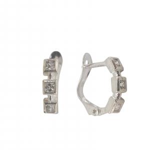 Cercei Argint 925%  cristal -1711 [1]
