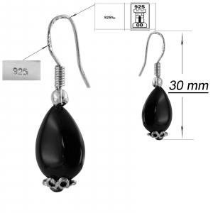 Cercei Argint 925% cu onix negru [1]