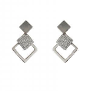 Cercei Argint 925% romboidali Lozenge [0]