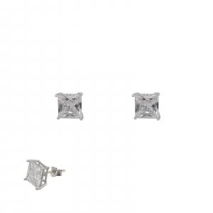 Cercei patrati de 5mm din Argint 925% [2]