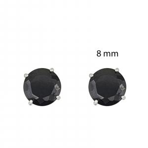 Cercei Argint 925% Round-Black [1]