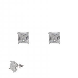 Cercei Argint 925% zirconiu patrat 1506SQW6 [2]