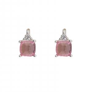 Cercei Funy Pink din Argint 925% ,cod 1996B [0]