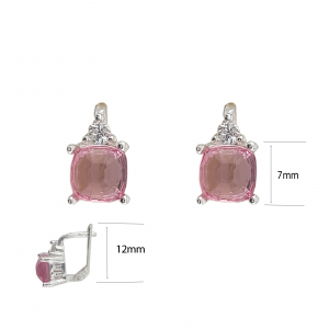 Cercei Funy Pink din Argint 925% ,cod 1996B [3]
