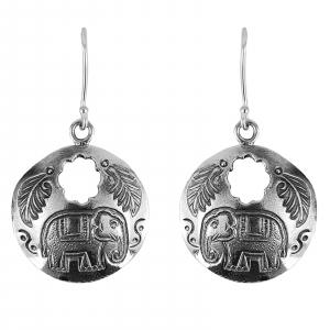 Cercei Argint 925% cu elefanti Indra [1]