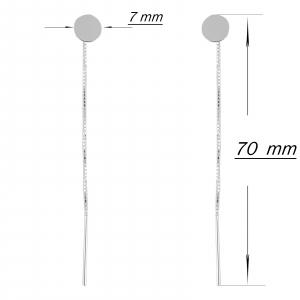 Cercei Argint 925% Fancy Round [1]