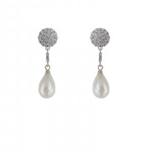 Cercei Argint 925% cu perle Mallorca si cubic zirconia [0]