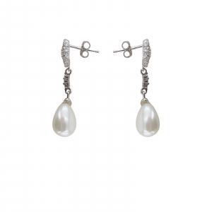 Cercei Argint 925% cu perle Mallorca si cubic zirconia [1]