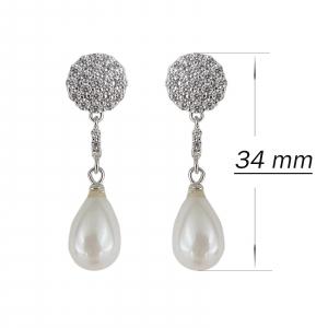 Cercei Argint 925% cu perle Mallorca si cubic zirconia [2]