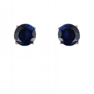 Cercei_argint 925% Ink-Blue de 10mm diametru [2]
