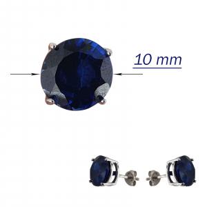 Cercei_argint 925% Ink-Blue de 10mm diametru [3]