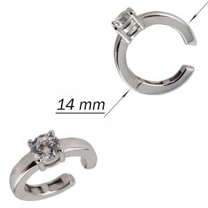 Cercei ear cuff din argint 925% si cubic zirconia [2]