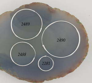 Cercuri clasice Argint 18mm, cod 2281 [4]