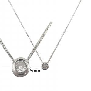 Colier Argint si cubic zirconia, cod 1654 [1]