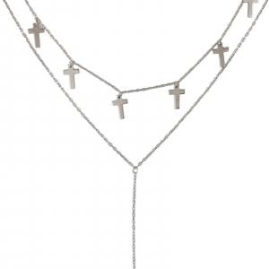 Colier Argint 925% dublu si cruciulite [1]