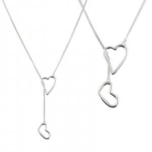 Colier Argint 925% Sliding Heart [2]