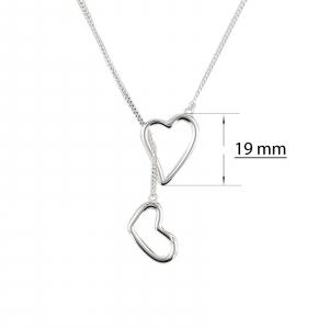 Colier Argint 925% Sliding Heart [3]