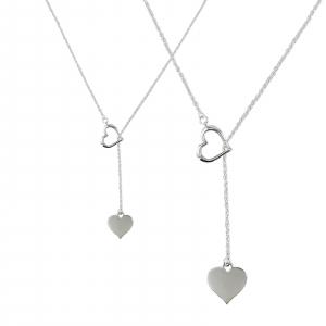 Colier Argint 925% cu doua inimioare si lungime reglabila [1]