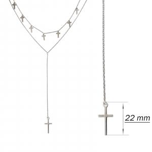 Colier Argint 925% dublu si cruciulite [2]