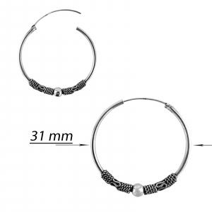 Creole Argint 925% cu model si sfera de 4mm atasata [1]