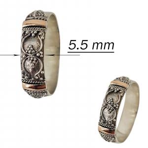 Inel Argint 925% cu aspect bicolor Heritage [2]