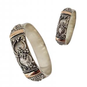 Inel Argint 925% cu aspect bicolor Heritage [1]