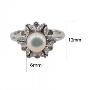 Inel Argint 925% cu perla de cultura 1958 [1]