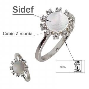 Inel Argint 925% cu sidef [2]