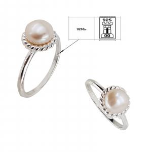 Inel clasic din Argint 925% cu perla de cultura de 8mm [1]