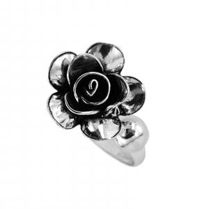 Inel Argint 925% reglabil, Vintage Rose [2]