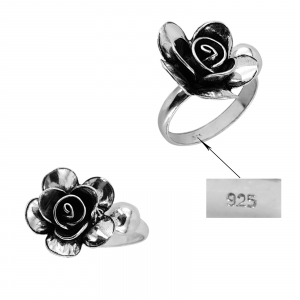 Inel Argint 925% reglabil, Vintage Rose [3]