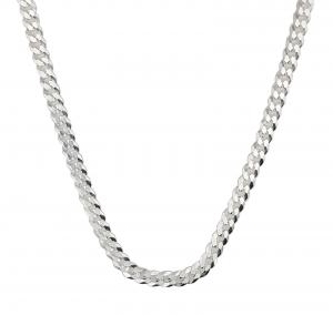 Lant Argint 925% barbati grumetta-flat,65cm [1]