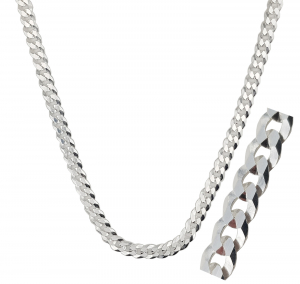 Lant Argint 925% barbati grumetta-flat,65cm [0]
