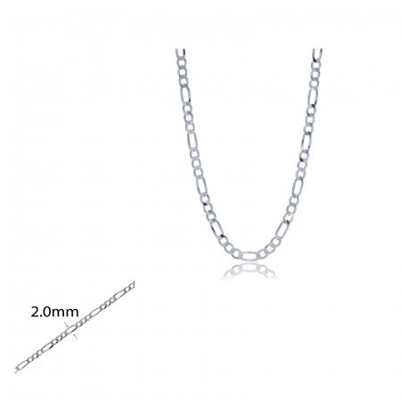 Lant Argint 925% model Figaro 55cm [0]