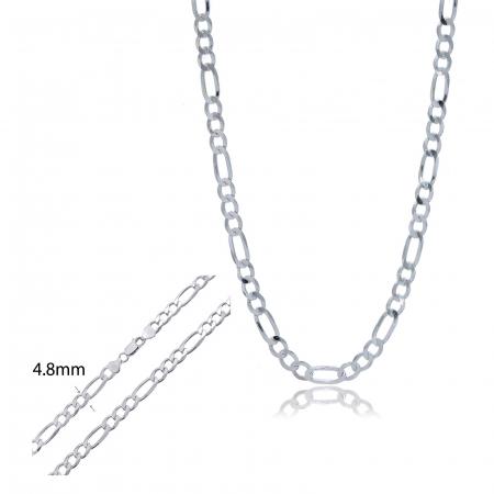 Lant  barbatesc din Argint 925% cu lungimea de 55cm, model Figaro [2]