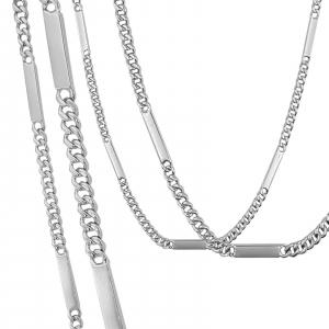 Lant Argint 925% model grumetta cu placute intercalate [2]