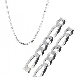 Lant Argint 925% pentru barbati model Figaro de 4mm [2]