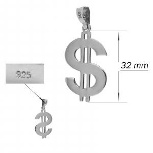 Medalion Argint 925% cu simbolul dolarului american [1]